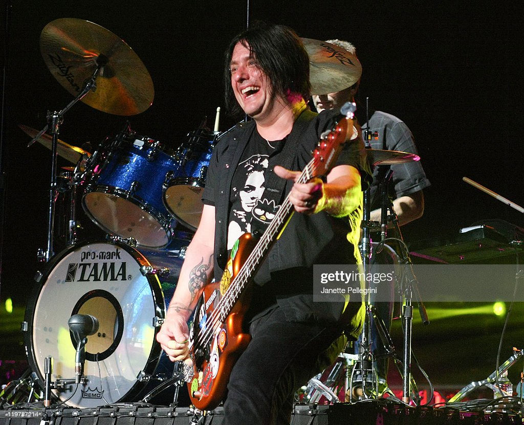 Robby Takac of the Goo Goo Dolls performs at the Nikon at Jones Beach Theater on July 24, 2011 in Wantagh, New York.