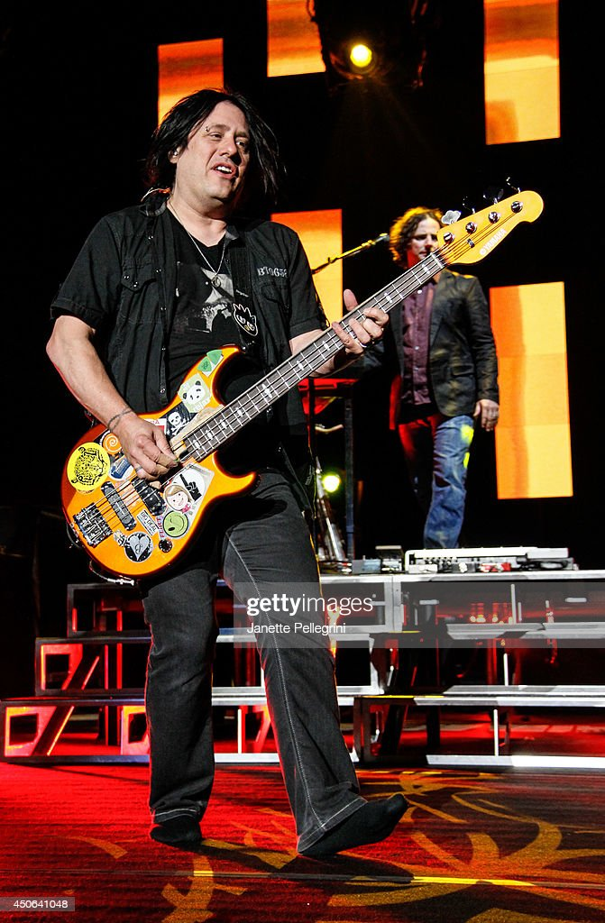 Robby Takac of The Goo Goo Dolls performs in concert at Nikon at Jones Beach Theater on June 14, 2014 in Wantagh, New York.