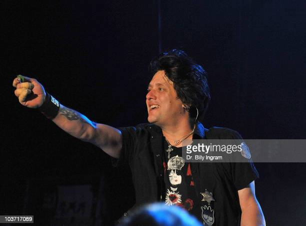 Robby Takac of the Goo Goo Dolls performs in concert at the Greek Theatre on August 29 2010 in Los Angeles California