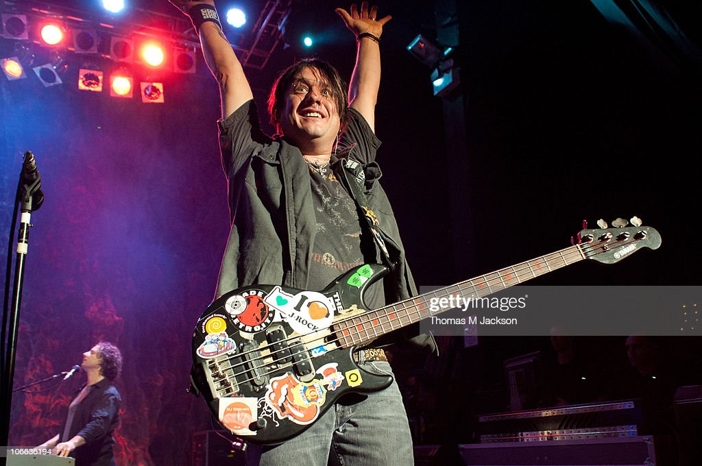 Robby Takac of the Goo Goo Dolls performs on stage at O2 Academy on November 8, 2010 in Newcastle upon Tyne, England.