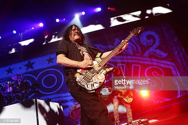 Robby Takac of the Goo Goo Dolls performs onstage at Gibson Amphitheatre on July 17 2013 in Universal City California