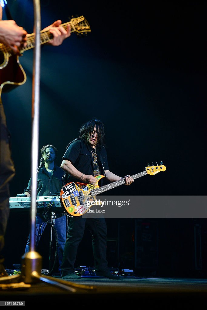 <a gi-track='captionPersonalityLinkClicked' href=/galleries/search?phrase=Robby+Takac&family=editorial&specificpeople=778886 ng-click='$event.stopPropagation()'>Robby Takac</a> of The Goo-Goo Dolls performs live on stage at the Sands Bethlehem Event Center on April 21, 2013 in Bethlehem, Pennsylvania.