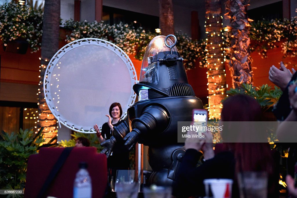Robby the Robot attends 'Forbidden Planet' screening during day 3 of the TCM Classic Film Festival 2016 on April 30, 2016 in Los Angeles, California. 25826_008