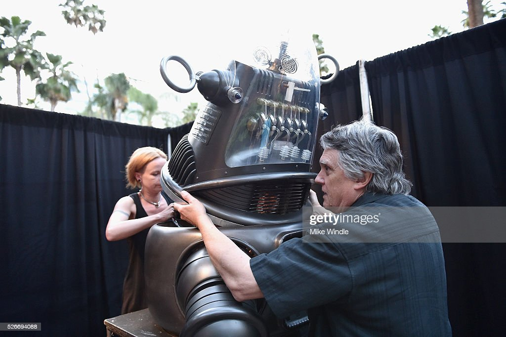 Robby the Robot (C) attends 'Forbidden Planet' screening during day 3 of the TCM Classic Film Festival 2016 on April 30, 2016 in Los Angeles, California. 25826_008