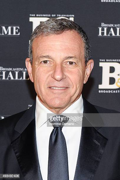 Robert A Iger attends Broadcasting and Cable Hall Of Fame Awards 25th Anniversary Gala at The Waldorf Astoria on October 20 2015 in New York City