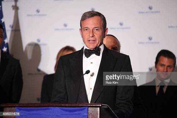 Robert A Iger Chairman and CEO of The Walt Disney Company attends 2014 Appeal of Conscience Foundation Awards at The Waldorf=Astoria on September 23...