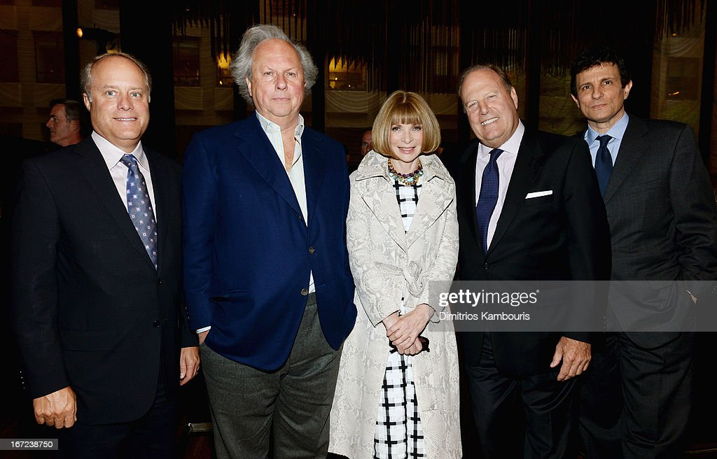 Robert A. Sauerberg Jr, Graydon Carter, Anna Wintour, Chuck Townsend and David Remnick attend the Conde Nast Celebrates Editorial Excellence: Toast To Editors, Writers And Contributors on April 22, 2013 in New York City.