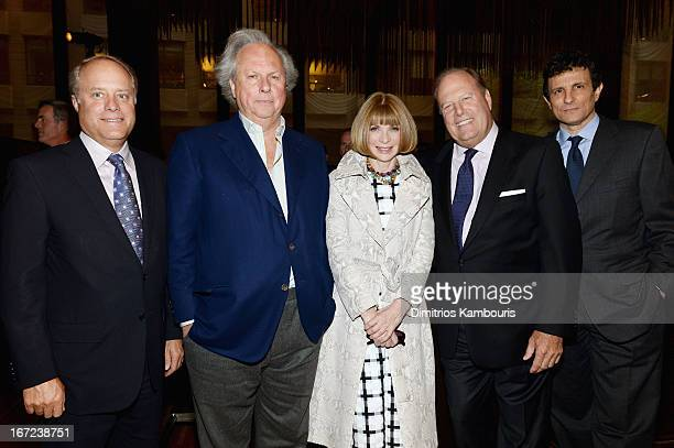 Robert A Sauerberg Jr Graydon Carter Anna Wintour Chuck Townsend and David Remnick attend the Conde Nast Celebrates Editorial Excellence Toast To...