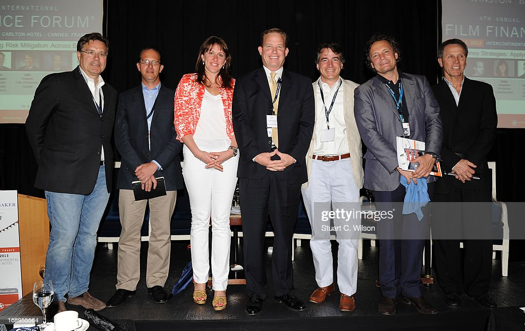 Robert Aarts, Graham Begg, Molly Connors, Joe Finnegan, Will French, Mark Hutchison and Oliver Simon attend the 4th Annual International Film Finance Forum presented by Winston Baker in association with Variety at the Intercontinental Carlton Hotel during The 66th Annual Cannes Film Festival on May 17, 2013 in Cannes, France.
