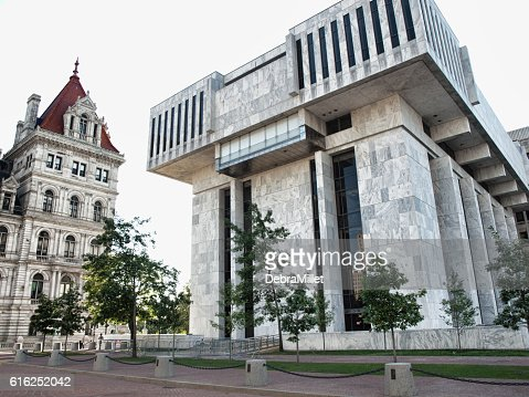 Robert Abrams Building for Law and Justice : Stock Photo