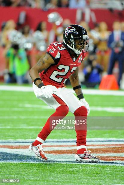 Robert Alford of the Atlanta Falcons in action against the New England Patriots during Super Bowl 51 at NRG Stadium on February 5 2017 in Houston...