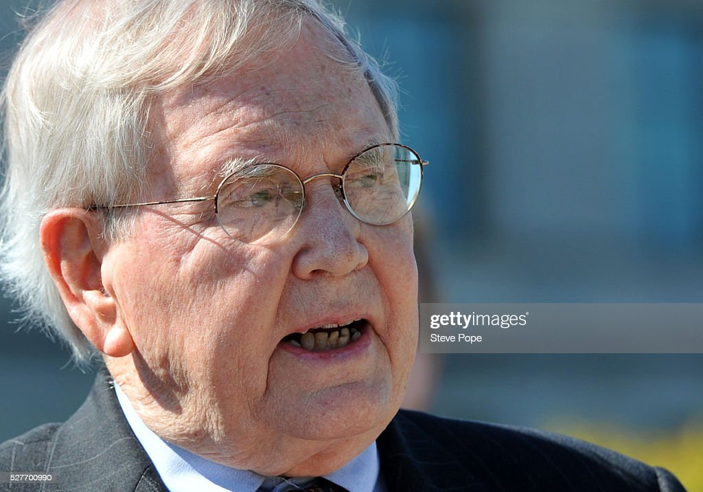 Robert Allbee, a former Iowa Supreme Court Appointee, speaks at a MoveOn.org event named 'Senator Grassley, Do Your Job Or Lose The Respect And Votes' on May 3, 2016 in Des Moines, Iowa.