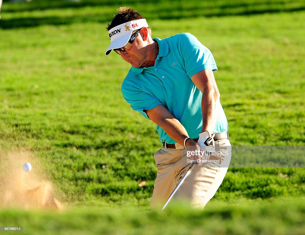 Robert Allenby of Australia plays a shot on the 7th hole during the first round of the Sony Open at Waialae Country Club on January 14, 2010 in Honolulu, Hawaii.