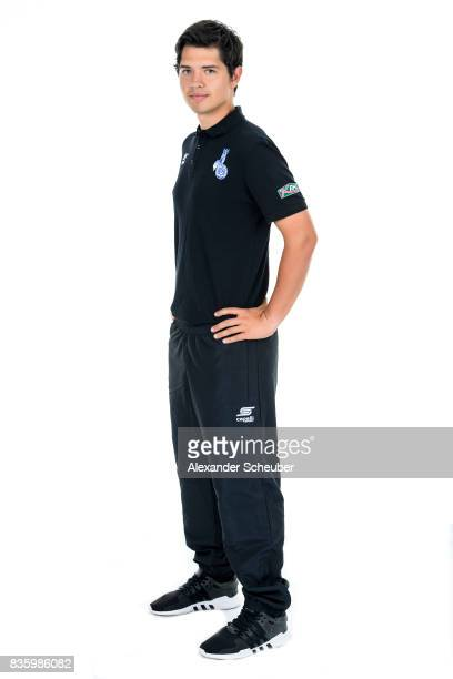 Robert Augustin of MSV Duisburg poses during the Allianz Frauen Bundesliga Club Tour at MSV Duisburg on August 17 2017 in Duisburg Germany