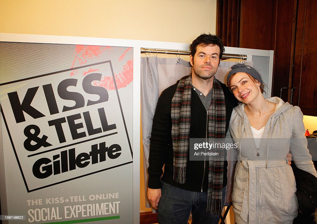 Robert Baker and Amanda Walsh attends Gillette Ask Couples at Sundance to 'Kiss & Tell' if They Prefer Stubble or Smooth Shaven - Day 2 on January 19, 2013 in Park City, Utah.