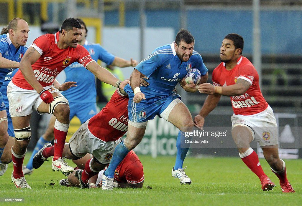 Robert Barbieri of Italy during the international test match between Italy and Tonga at Mario Rigamonti Stadium on November 10, 2012 in Brescia, Italy.