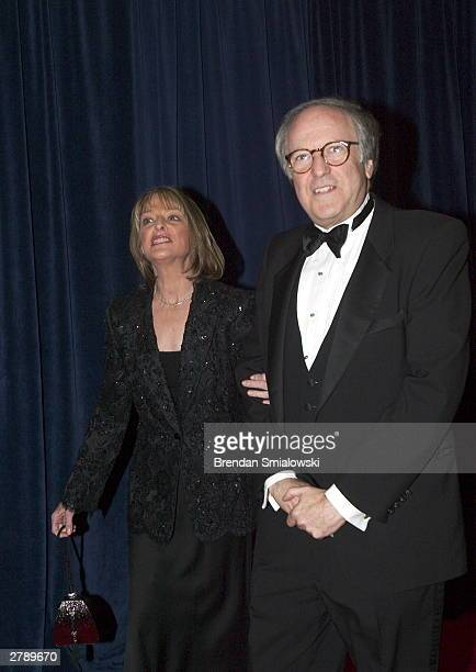 Robert Barnett and Rita Braver arrive at the United States State Department for a dinner in Washington Saturday December 6 2003 evening preceding...