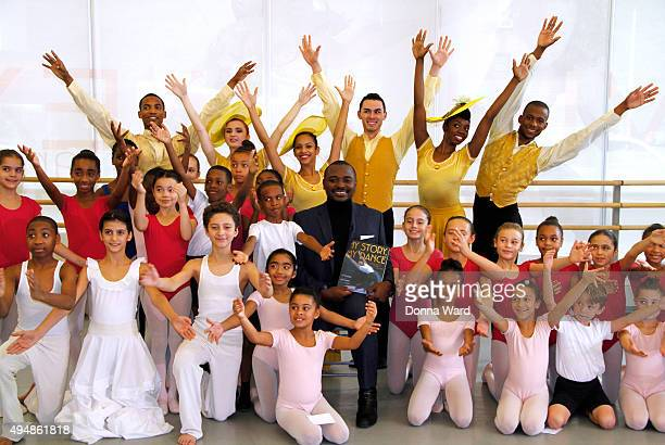Robert Battle and Ailey students appear to celebrate the Ailey launch of the Simon Schuster children's book MY STORY MY DANCE Robert Battle's Journey...