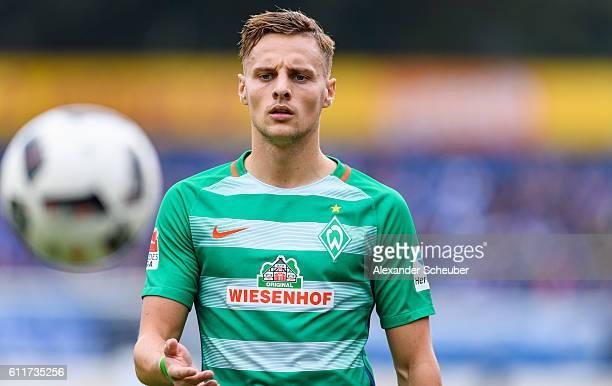 Robert Bauer of Bremen during the Bundesliga match between SV Darmstadt 98 and Werder Bremen at Stadion am Boellenfalltor on October 1 2016 in...