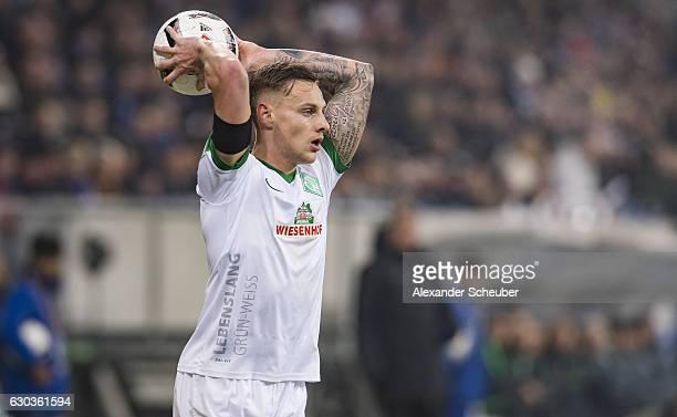 Robert Bauer of Bremen in action during the Bundesliga match between TSG 1899 Hoffenheim and Werder Bremen at Wirsol RheinNeckarArena on December 21...