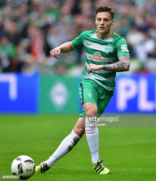 Robert Bauer of Bremen in action during the Bundesliga match between Werder Bremen and SV Darmstadt 98 at Weserstadion on March 4 2017 in Bremen...