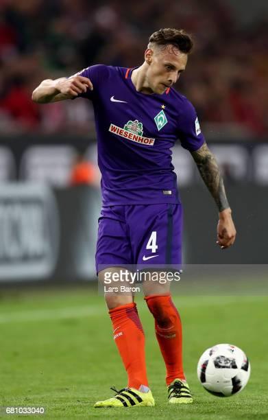 Robert Bauer of Bremen runs with the ball during the Bundesliga match between 1 FC Koeln and Werder Bremen at RheinEnergieStadion on May 5 2017 in...