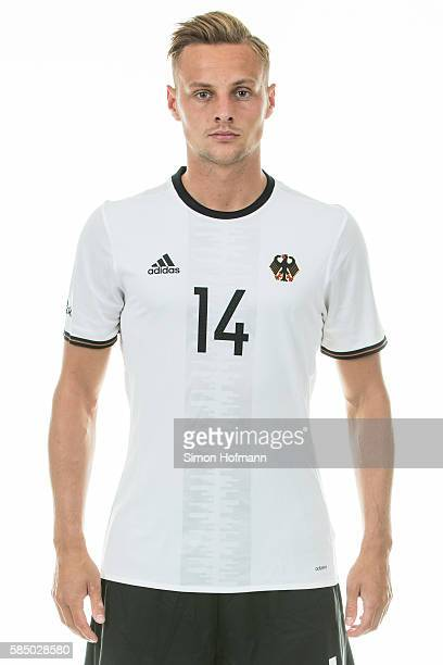 Robert Bauer poses during the German Olympic Football Team Photocall on July 30 2016 in NeuIsenburg Germany