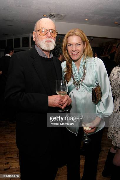 Robert Bechtle and Cecilia Wolfson attend Whitney Biennial Artists Party at Trata Estiatoria on March 8 2008 in New York City