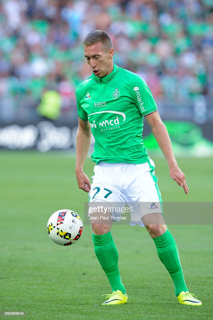 Robert BERIC of Saint Etienne during the Ligue 1 match between As Saint Etienne and Montpellier Herault at Stade GeoffroyGuichard on August 21 2016...