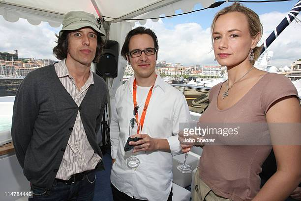 Robert Bevan Cyril Megret and Leontie Hess attend the Winchester Captial Fund Lunchon held at Bud Light Yacht during the 61st Cannes Film Festival on...