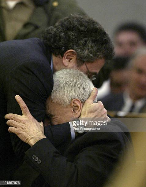 Robert Blake and attorney M Gerald Schwartzbach react after hearing Blake was acquitted on all counts in his murder trial for the death of his wife...