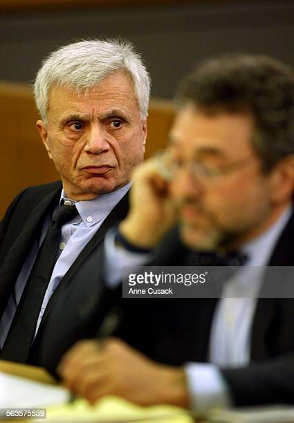 Robert Blake looks over at Prosecutor Darlene Schempp as she she makes her argument in a pretrail hearing Actor Robert Blake appeared in Van Nuys...