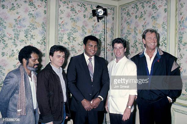 Robert Blake Muhammad Ali and John Travolta during Press Conference For Children's Peace Foundation at Beverly Wilshire Hotel in Beverly Hills...