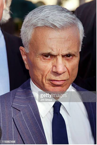 Robert Blake speaks to the media before a pretrial session on the murder charges he faces in the death of his wife Bonny Lee Bakley July 10 2003 at...