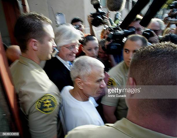 Robert Blake with his lawyer Thomas A Mesereau smiling at his side leave the Mens Central Jail Actor Robert Blake was released on bond today from the...