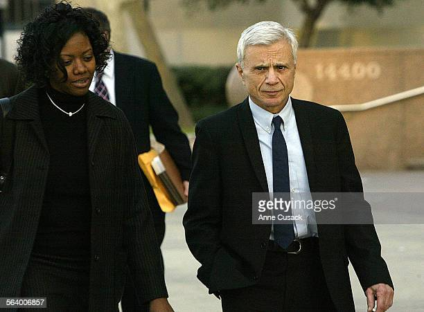 Robert Blakeleaves Superior Court in Van Nuys M afterr the first day of his trail in the alleged murder of his wife Bonny Lee Bakely three and a half...