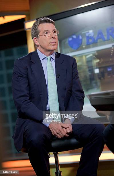 Robert 'Bob' Diamond chief executive officer of Barclays Plc attends a television interview in Hong Kong China on Wednesday June 13 2012 Diamond said...