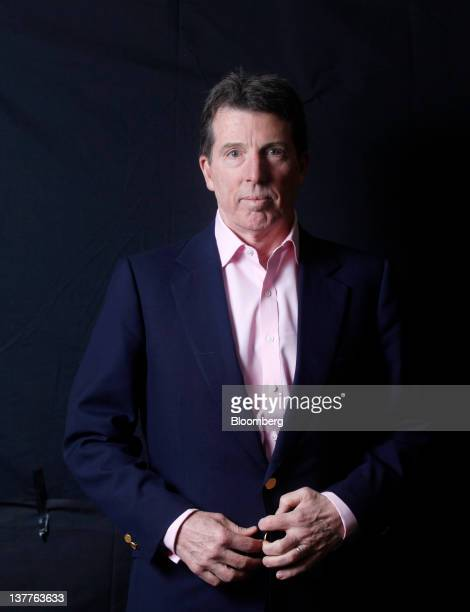Robert 'Bob' Diamond chief executive officer of Barclays Plc poses for a photograph following a television interview during day two of the World...