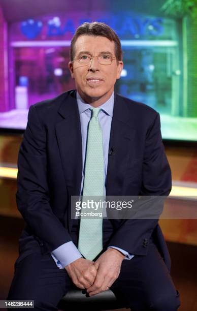 Robert 'Bob' Diamond chief executive officer of Barclays Plc poses for a photograph before a television interview in Hong Kong China on Wednesday...