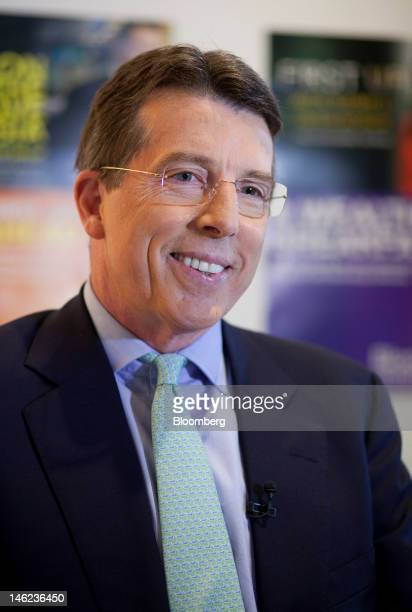 Robert 'Bob' Diamond chief executive officer of Barclays Plc speaks before a television interview in Hong Kong China on Wednesday June 13 2012...
