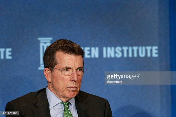 Robert 'Bob' Diamond founder and chief executive officer of Atlas Merchant Capital LLC listens during the annual Milken Institute Global Conference...