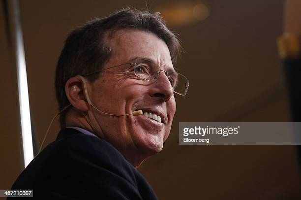 Robert 'Bob' Diamond founder and chief executive officer of Atlas Merchant Capital LLC smiles during an interview at the annual Milken Institute...