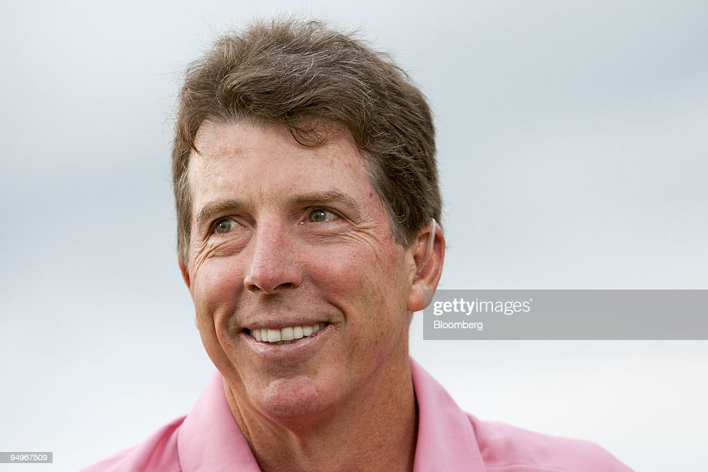 Robert 'Bob' Diamond president of Barclays Plc is interviewed during The Barclays golf tournament at Liberty National Golf Club in Jersey City New...