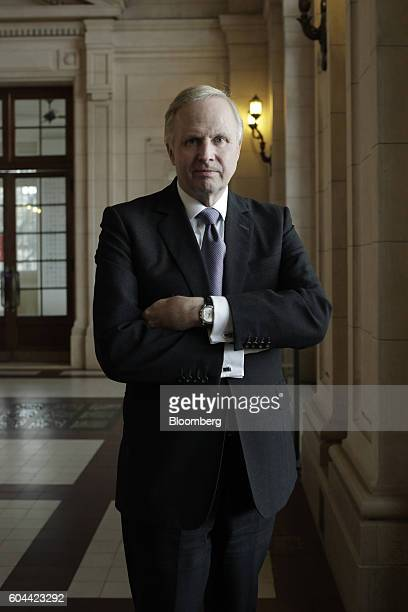 Robert 'Bob' Dudley chief executive officer of BP Plc stands for a photograph after a Bloomberg Television interview on the sidelines of the...
