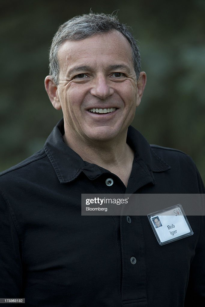 Robert 'Bob' Iger, chief executive officer of The Walt Disney Co., exits a session at the Allen & Co. Media and Technology Conference in Sun Valley, Idaho, U.S., on Friday, July 12, 2013. Executives from media, finance and politics mingle at the mountain resort between presentations on business trends and social issues, brought together by New York investment banker Herb Allen. Photographer: Scott Eells/Bloomberg via Getty Images