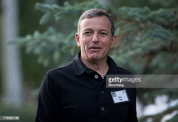 Robert 'Bob' Iger chief executive officer of The Walt Disney Co exits a session at the Allen Co Media and Technology Conference in Sun Valley Idaho...
