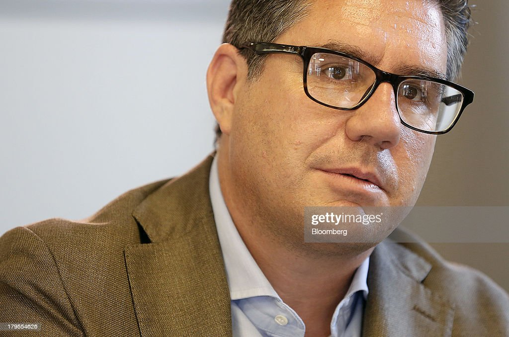 Robert 'Bob' Kunze-Concewitz, chief executive officer of Davide Campari-Milano SpA, speaks during an interview at the company's headquartersin Milan, Italy, on Wednesday, Sept. 4, 2013. Campari, the maker of Skyy vodka and Wild Turkey bourbon, said it expects gradual improvement for the rest of the year after sales trends improved for its leading liquor brands in the second quarter. Photographer: Alessia Pierdomenico/Bloomberg via Getty Images
