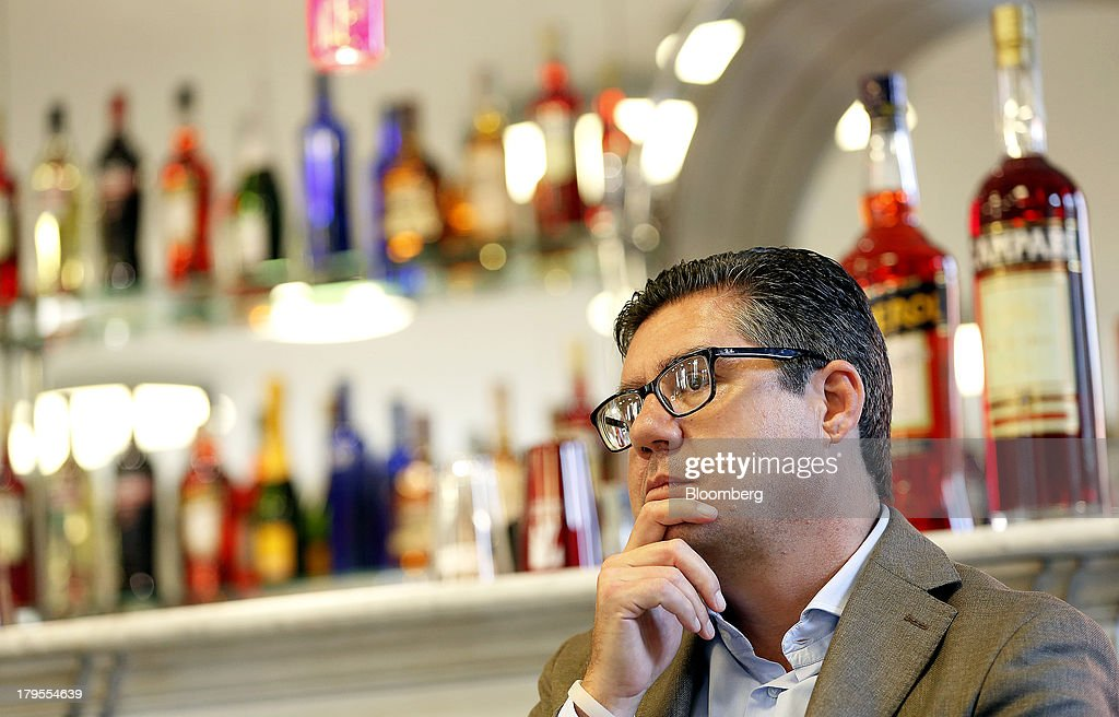 Robert 'Bob' Kunze-Concewitz, chief executive officer of Davide Campari-Milano SpA, pauses during an interview at the company's headquarters in Milan, Italy, on Wednesday, Sept. 4, 2013. Campari, the maker of Skyy vodka and Wild Turkey bourbon, said it expects gradual improvement for the rest of the year after sales trends improved for its leading liquor brands in the second quarter. Photographer: Alessia Pierdomenico/Bloomberg via Getty Images