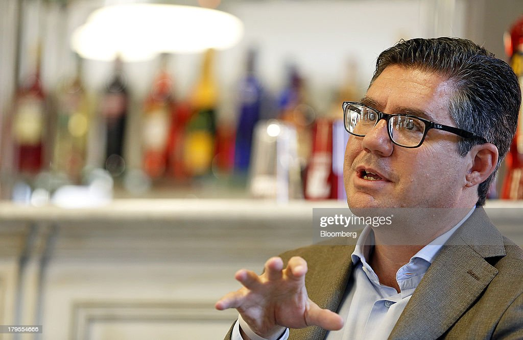 Robert 'Bob' Kunze-Concewitz, chief executive officer of Davide Campari-Milano SpA, gestures during an interview at the company's headquartersin Milan, Italy, on Wednesday, Sept. 4, 2013. Campari, the maker of Skyy vodka and Wild Turkey bourbon, said it expects gradual improvement for the rest of the year after sales trends improved for its leading liquor brands in the second quarter. Photographer: Alessia Pierdomenico/Bloomberg via Getty Images