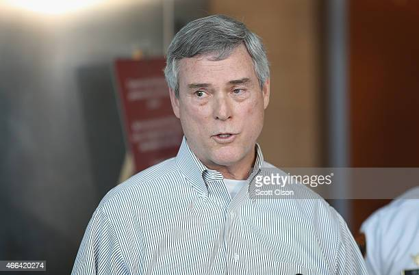 Robert 'Bob' McCulloch the Prosecuting Attorney for St Louis County announces the arrest of Jeffery Williams for last week's shooting of two police...